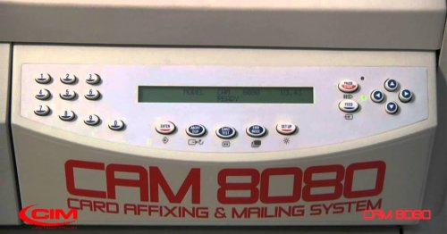 Card Matching, Affixing and Mailing System - CIM CAM 8080