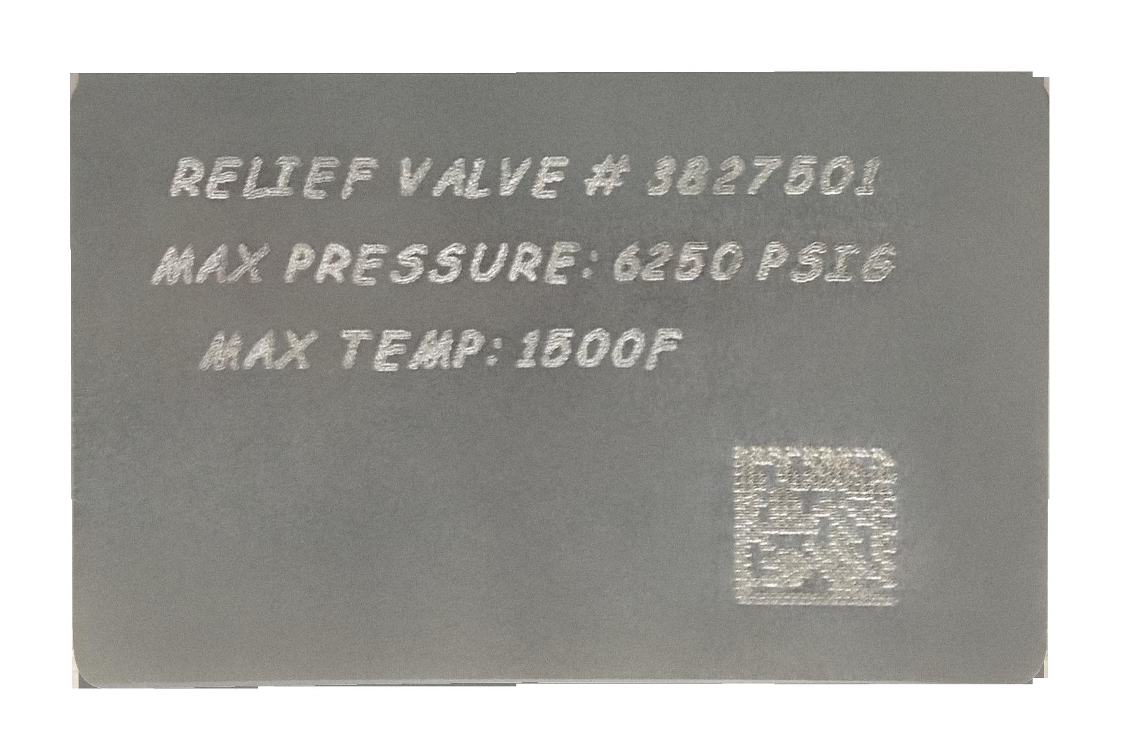 2D data matrix dot peened plate
