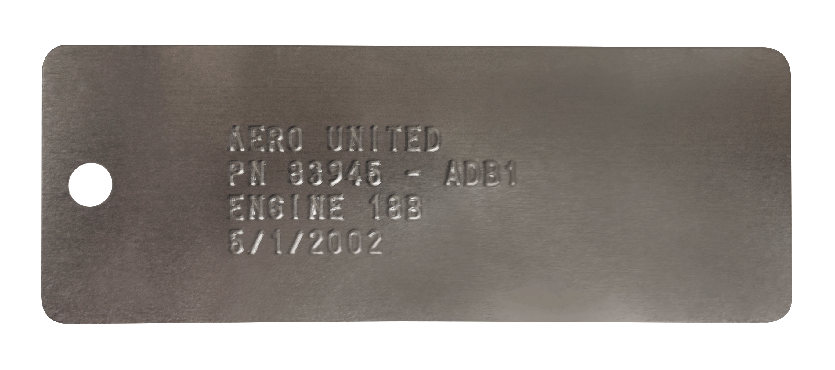 embossed metal tag
