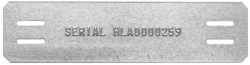 embossed cable tag