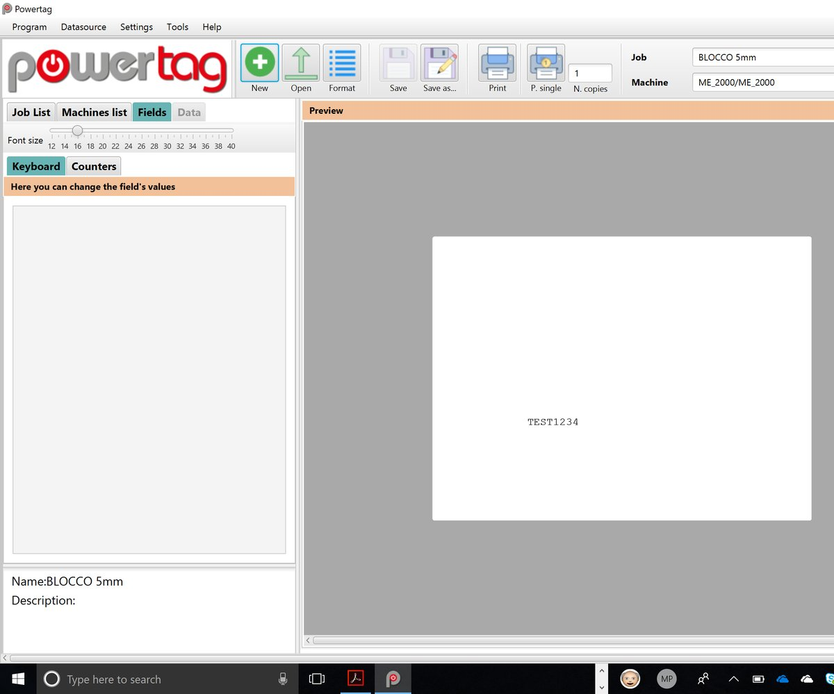 Tag marking, metal marking software, perating systems such